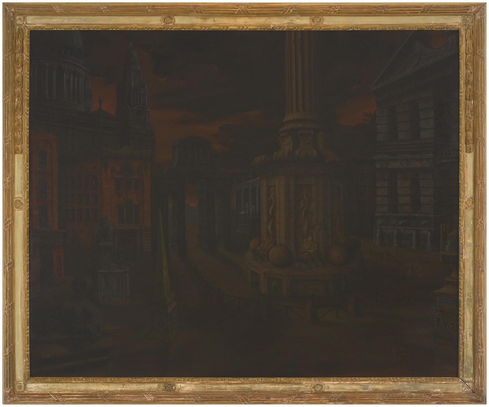 Paternoster Square Cappriccio 2008 oil on linen in artist's frame 154 x 185 cm