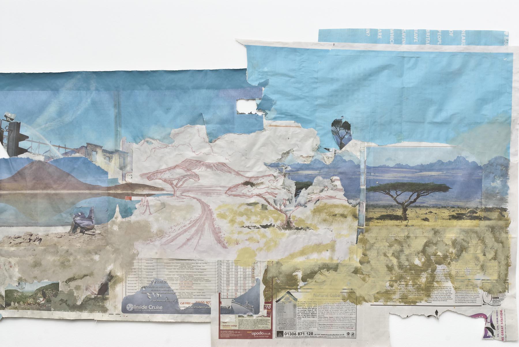 Jesus Help Me Find My Property (detail) 2007 acrylic on newsprint 70 x 300.5 cm