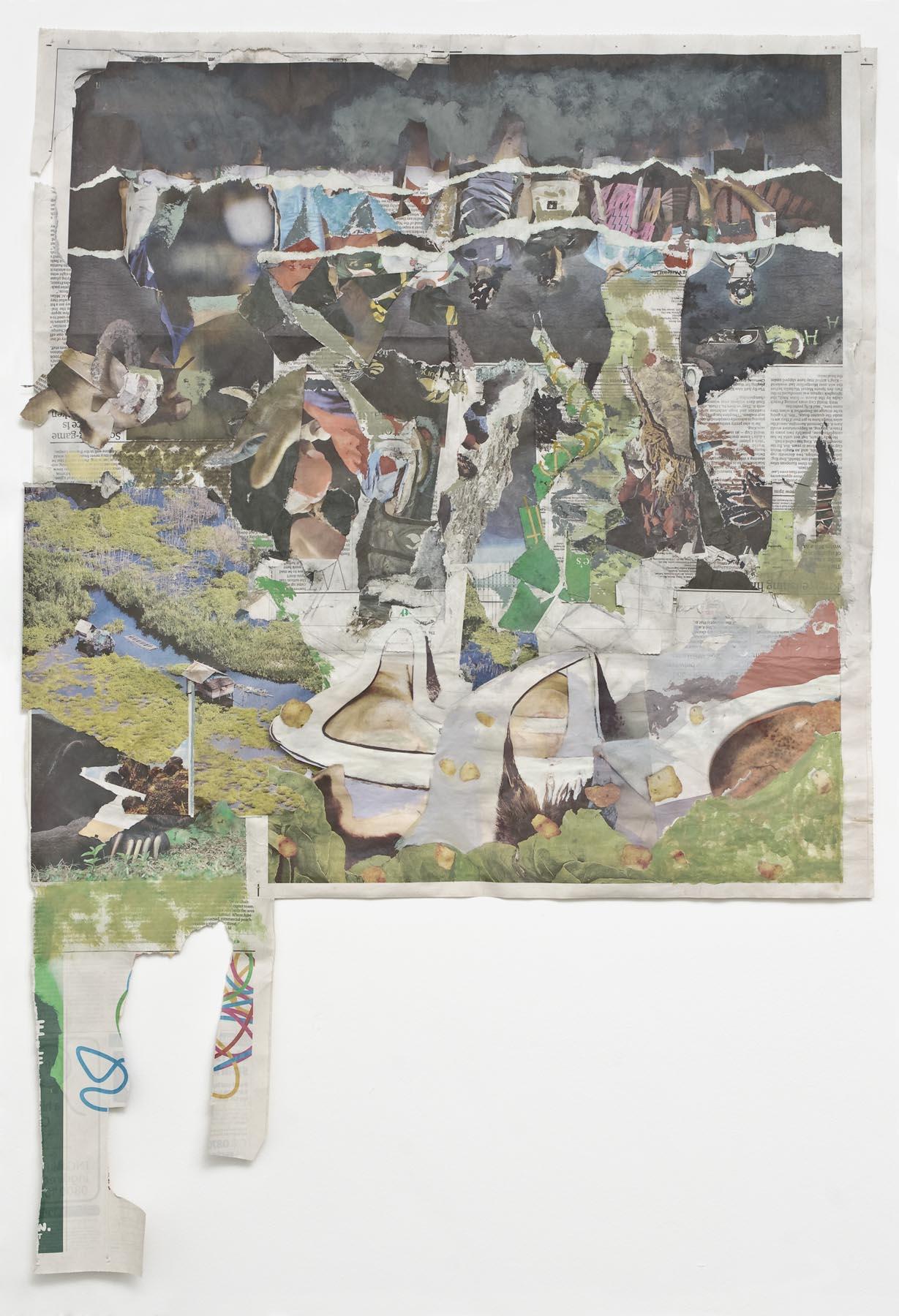Impure Passports 2007 acrylic on newsprint 92 x 94.5 cm