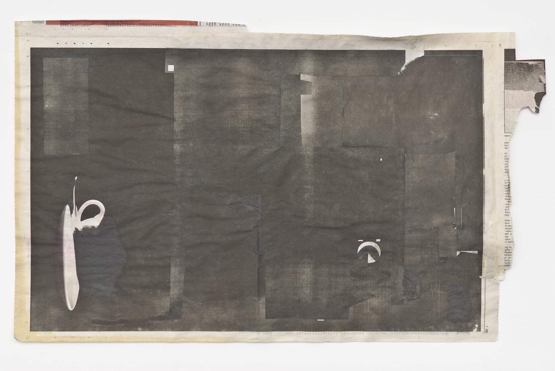 Slang is Signals 2007 acrylic on newsprint 38.1 x 63 cm