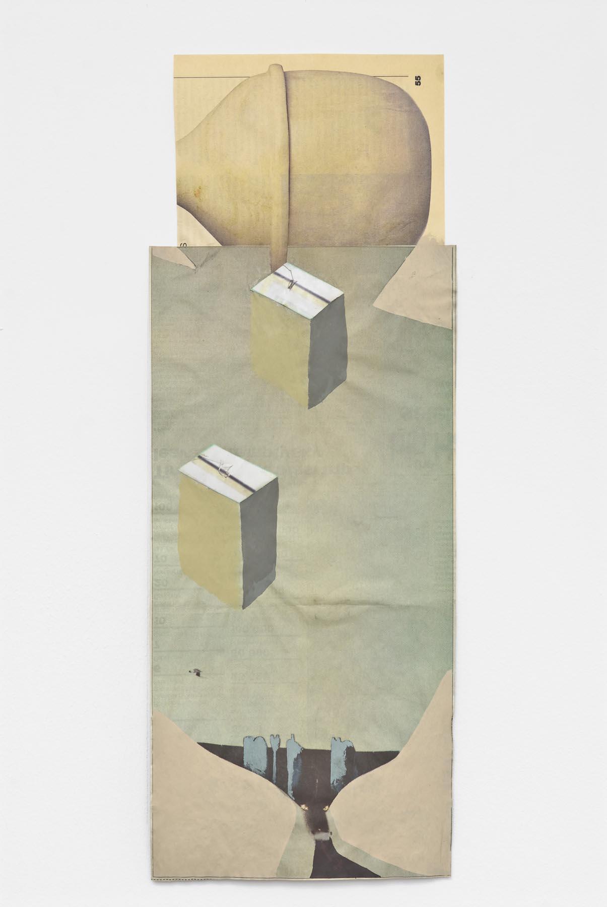 Untitled 2007 acrylic on newsprint 45.8 x 17 cm