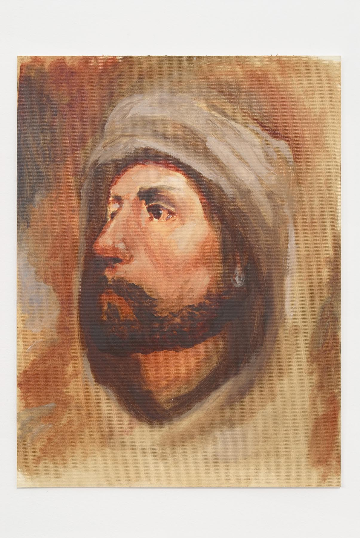 Man with A Pearl Earring (From The Hashishan)   2007   Oil on Canvas Paper   30.5 x 23 cm