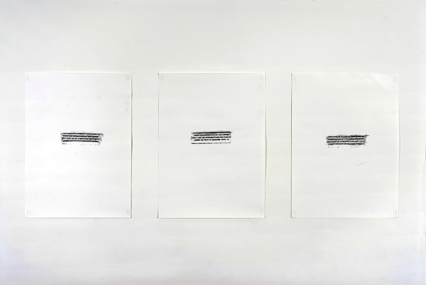 Untitled (From Engineering Consent)   2007   Pencil on Paper   3 parts:   each: 76.2 x 56 cm