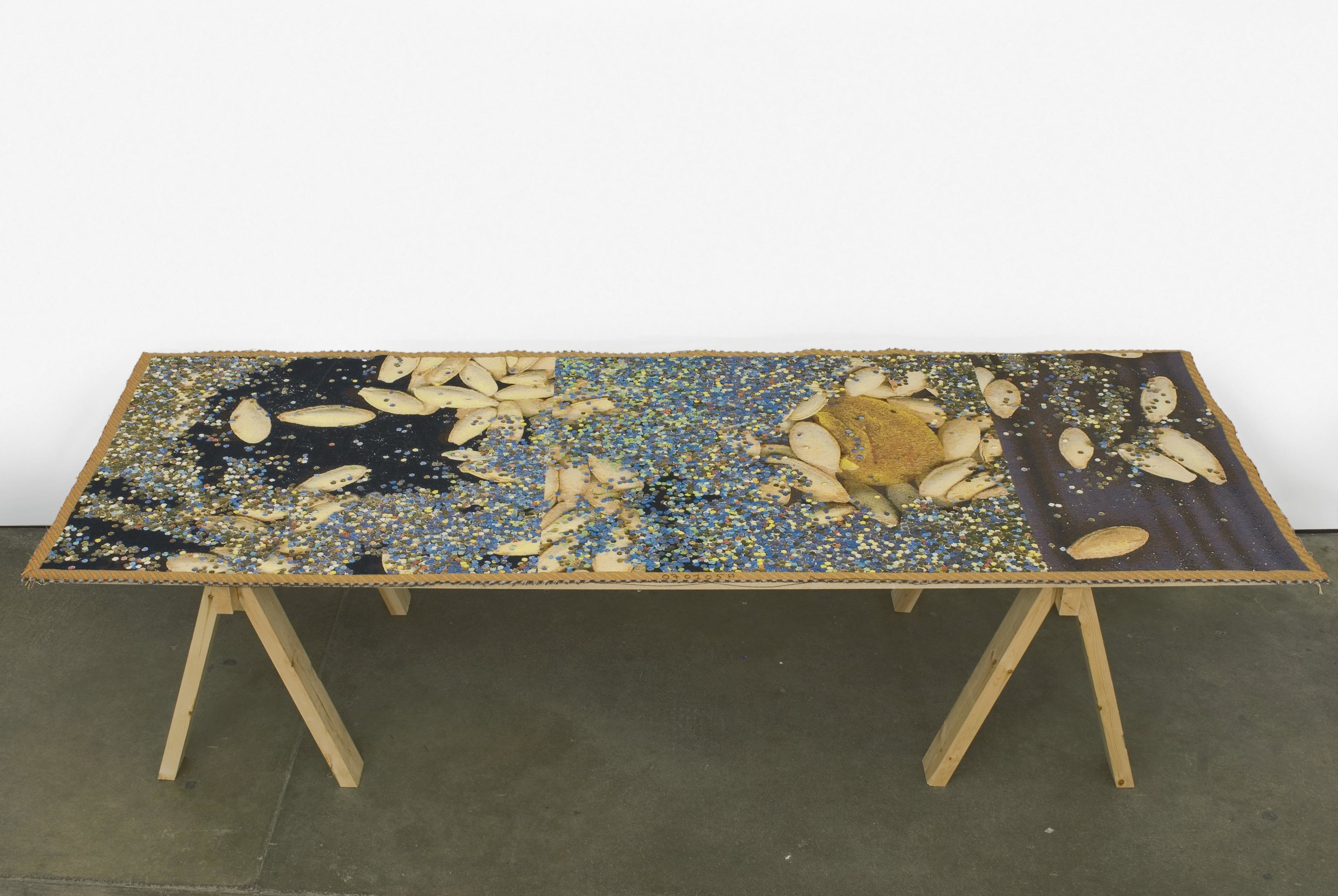 Pae White Table-scraps 1 2007 Cotton and Trevira 293.37 x 102.87 cm