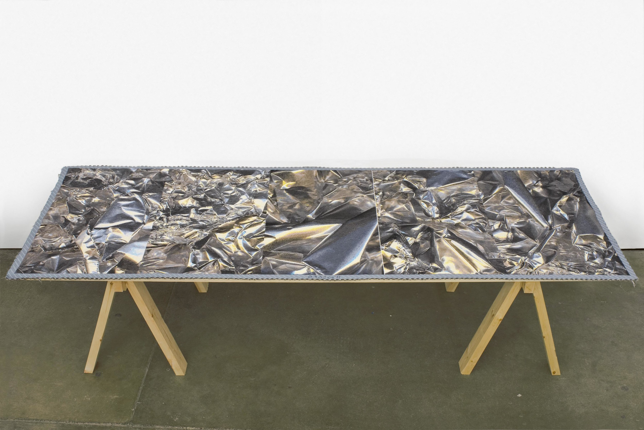 Pae White Kitchenscrap Tablecloth 2007 Cotton and Trevira 293.37 x 102.87 cm