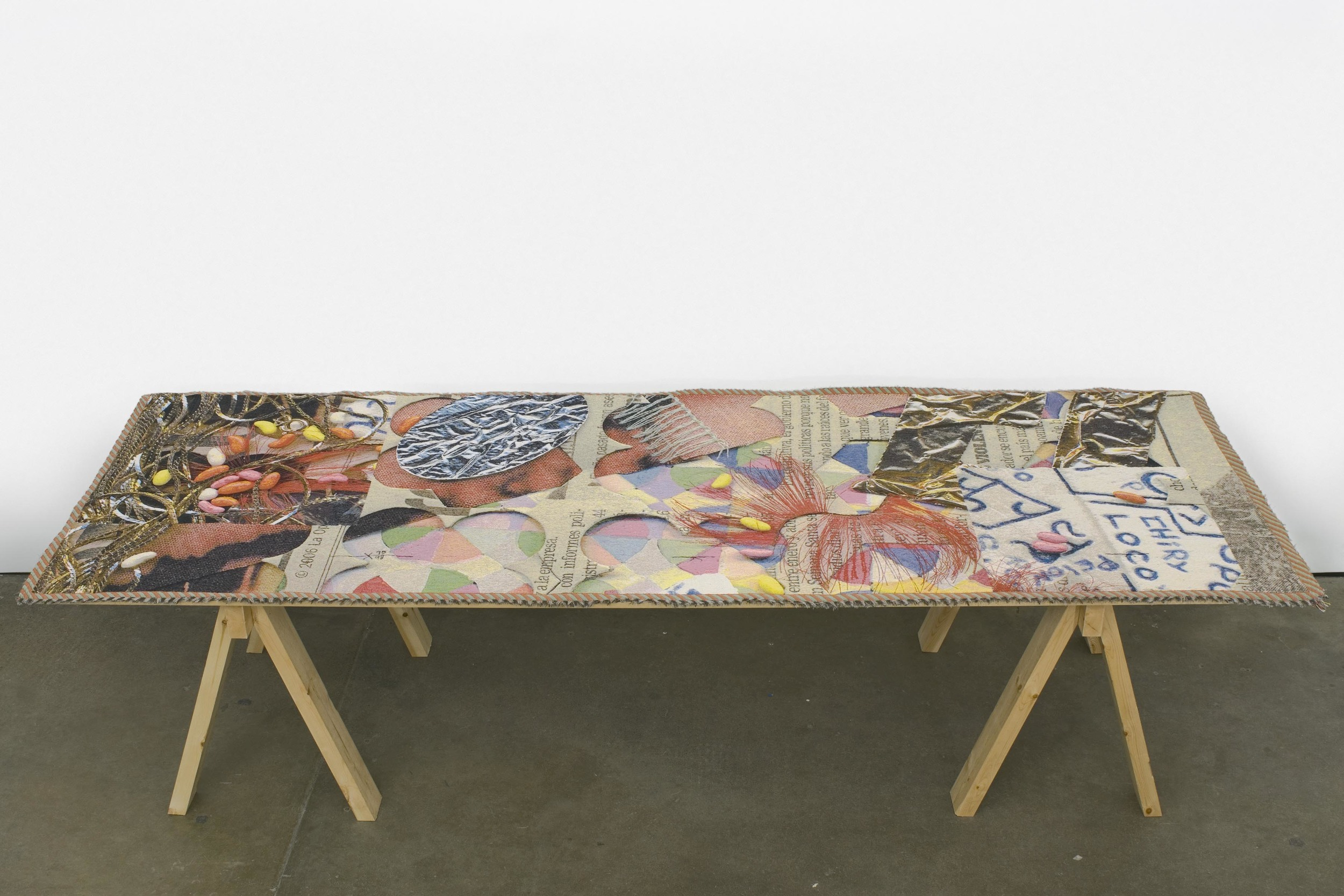 Pae White Table-scraps 2 2007 Cotton and Trevira 293.37 x 102.87 cm