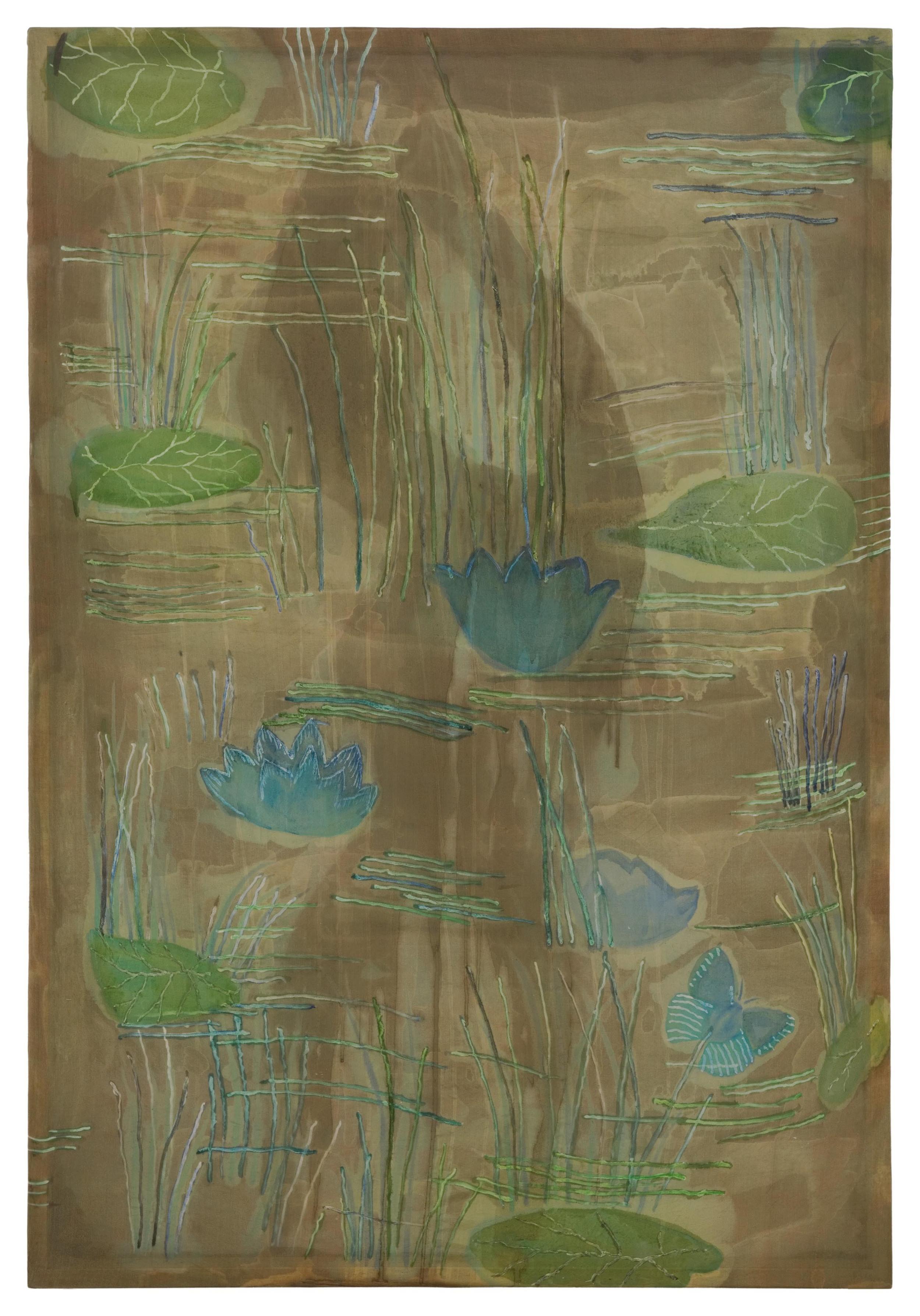 Shannon Bool Shower in Sultanahmet 2007 Oil and Batik on Silk 57 x 83 cm