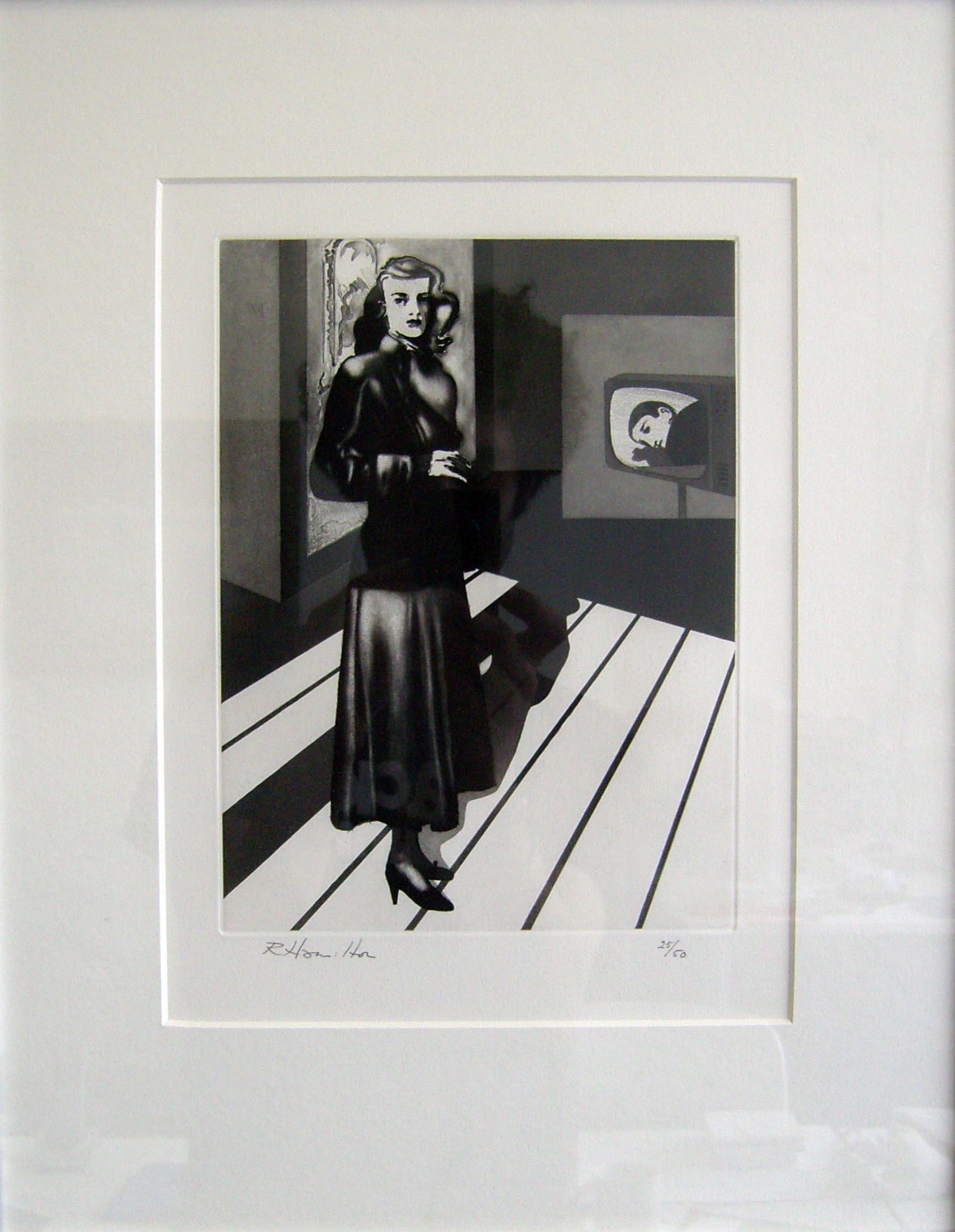 Richard Hamilton Patricia Knight III 1982 Soft, Lift Ground and Step Bite Aquatint Paper 38 x 28 cm/ Image 23.7 x 17.6 cm