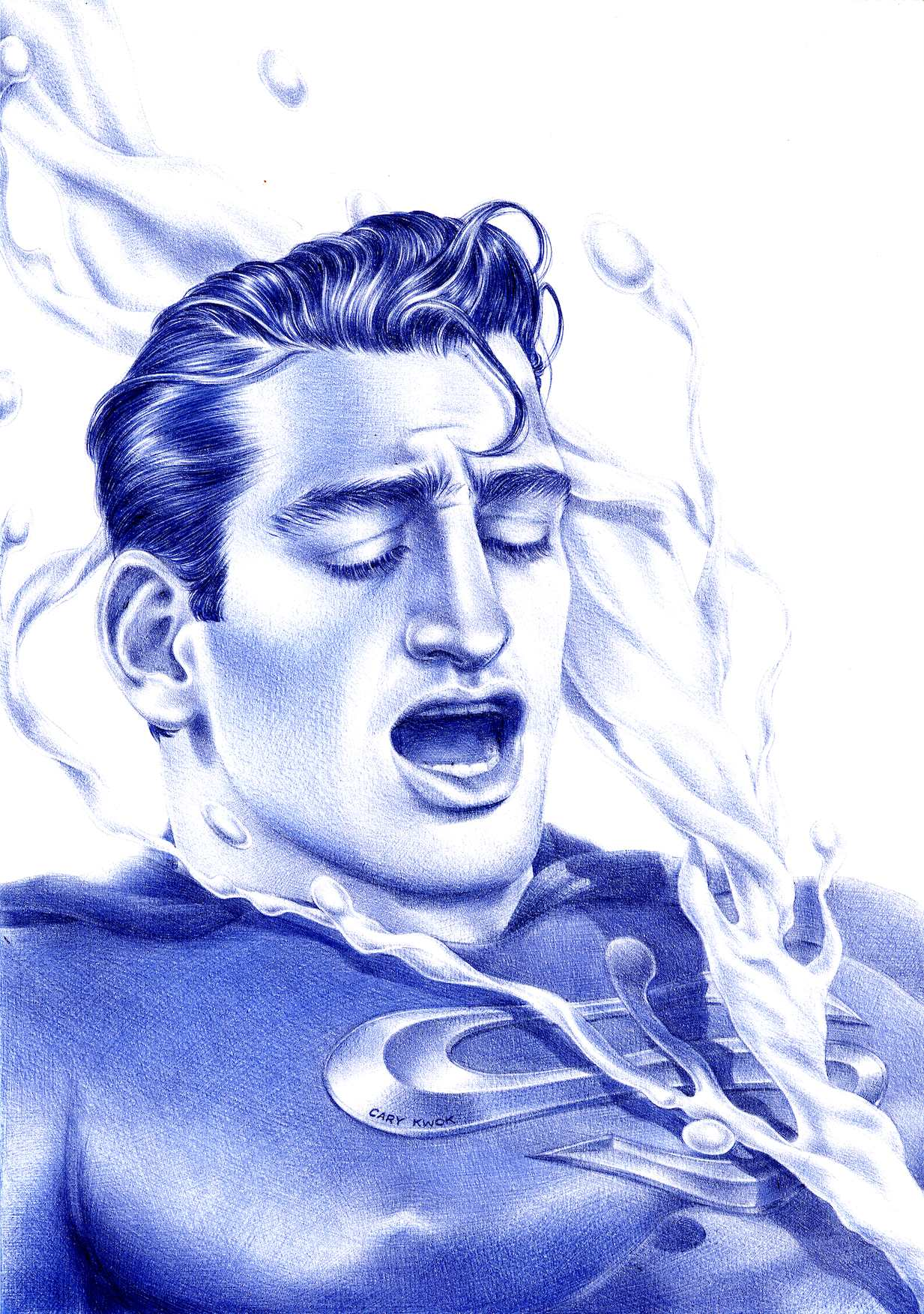 Sperman   2006   Ink on Paper   29.7 x 21 cm