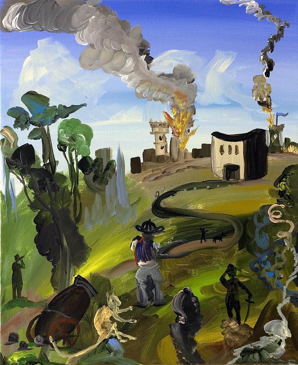 The Siege 2006 acrylic on canvas 40 x 50 cm