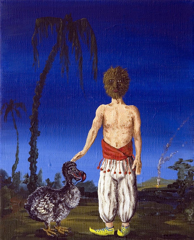 Dodo & Friend 2006 acrylic on canvas 20 x 25 cm