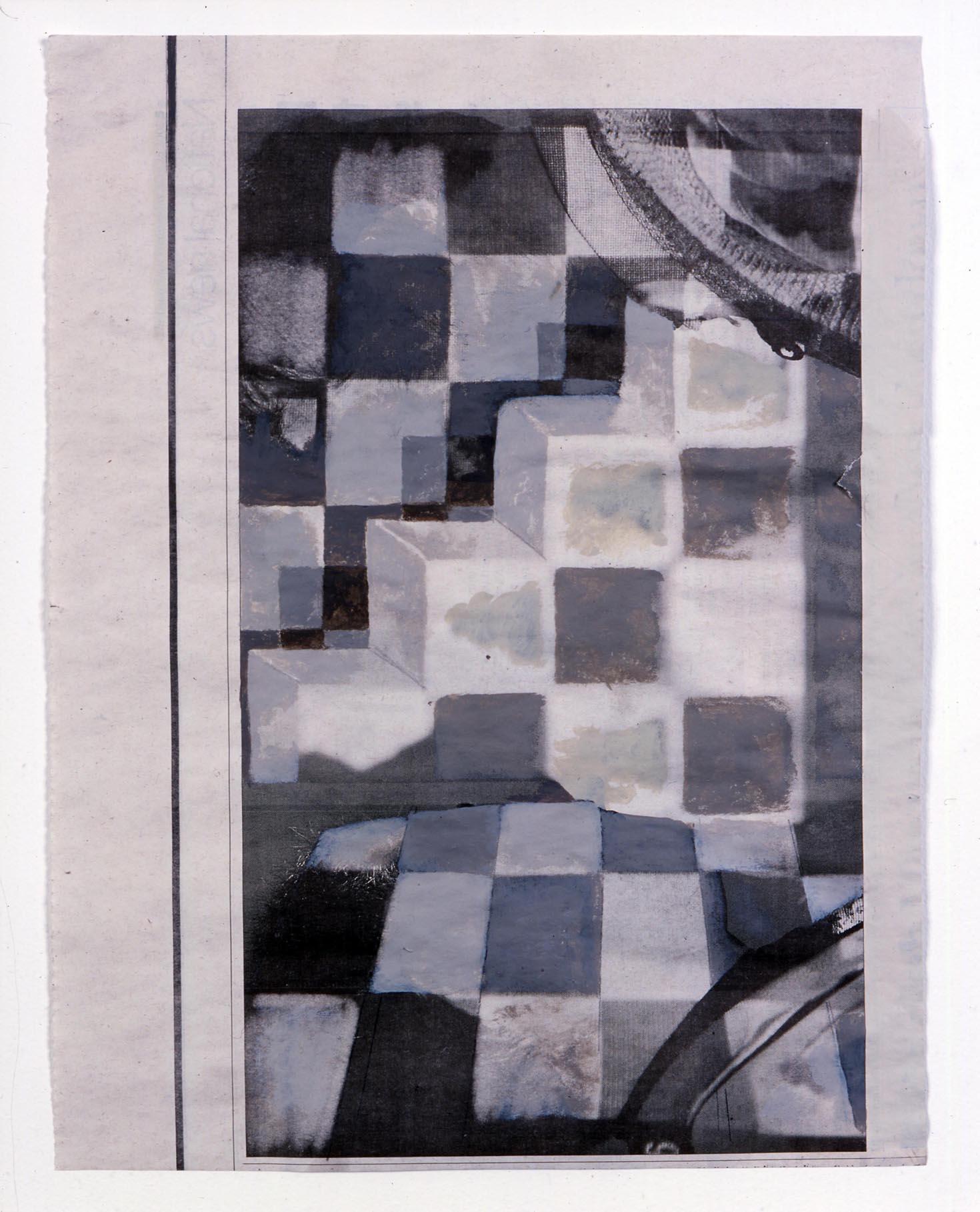 Started by Dark 2005 Acrylic on newsprint 27.3 x 21cm