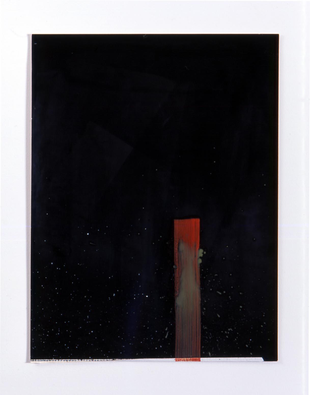 Untitled 2005 oil paint & tape on photogram 40.5x30.5cm