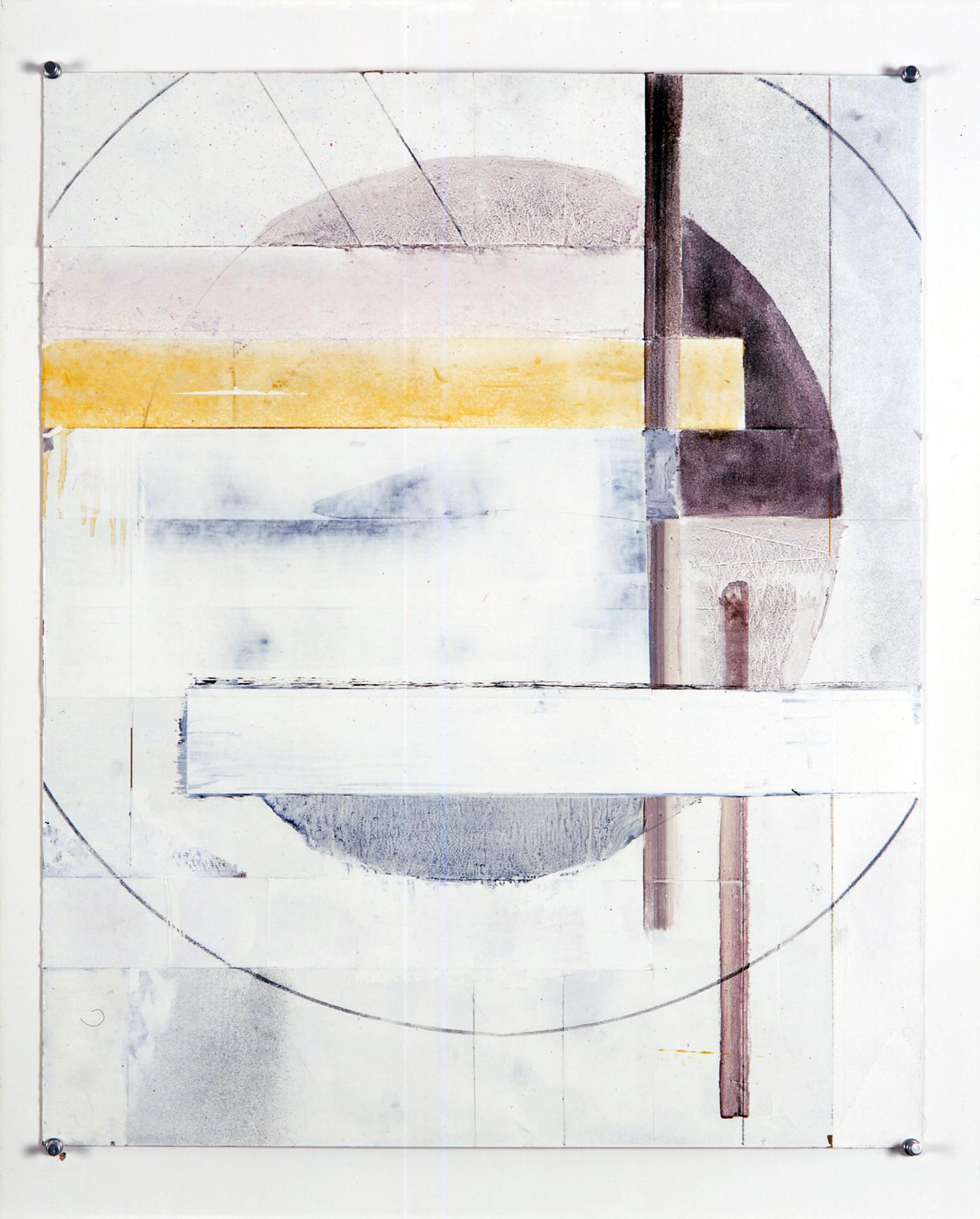 Untitled   2005   oil, spray paint, tape and graphite on card   59.5x49cm