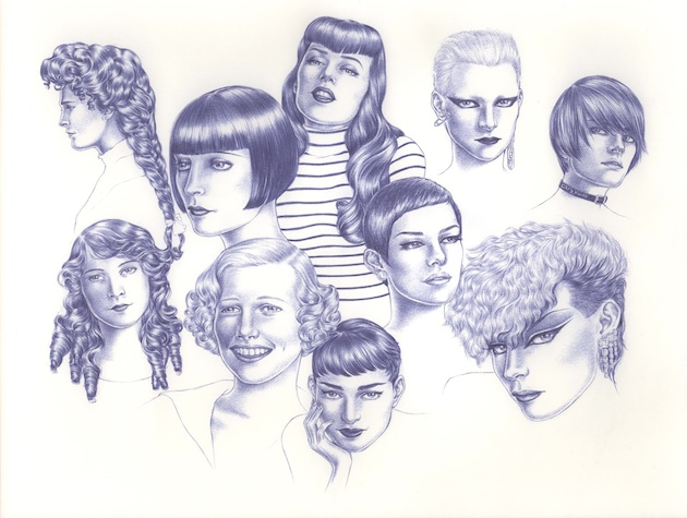 Girls 2005 Ink on paper A3