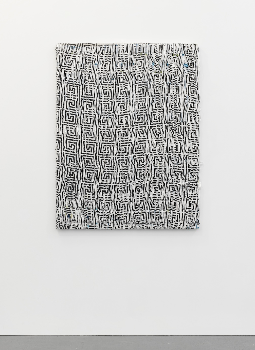 Hay King  2013  Polyester, bamboo, rayon, silk and acrylic  122 x 92 cm / 48 x 36 in