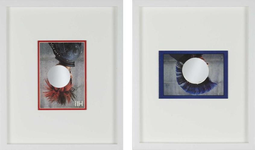 L-R: Roman Road, Bishops Way 2011 Postcard, mirror 35.5 x 28 cm / 14 x 11 in, 35.5 x 28 cm / 14 x 11 in