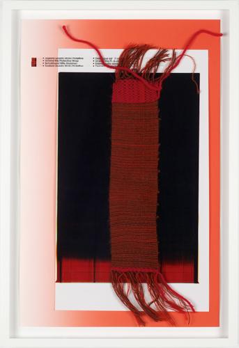 Sleep Film 2011 photograph, scotch tape, paper, hand woven cotton 43 x 28 cm / 17 x 11 in