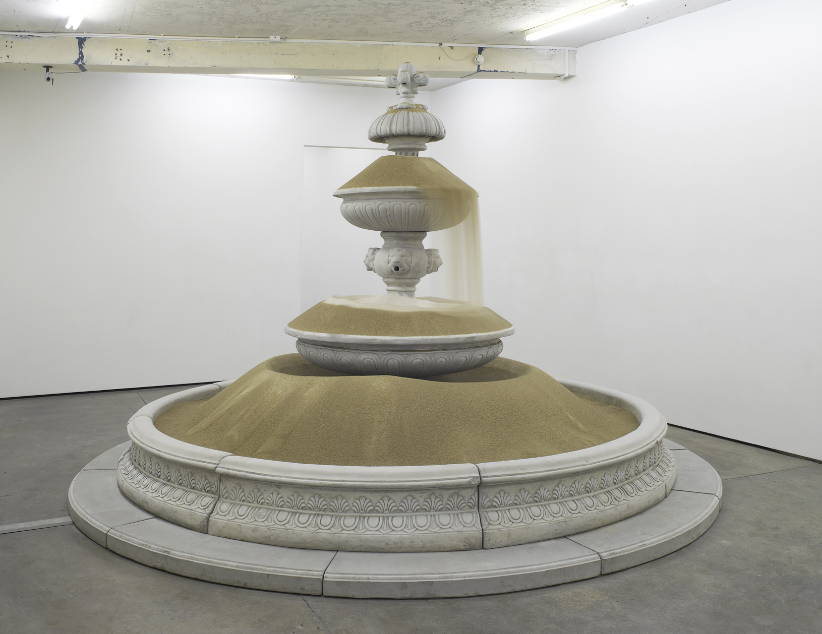 Sandfountain 2012 Prefabricated concrete fountain, sand 250 x 400 x 400 cm / 98.4 x 157.4 x 157.4 in