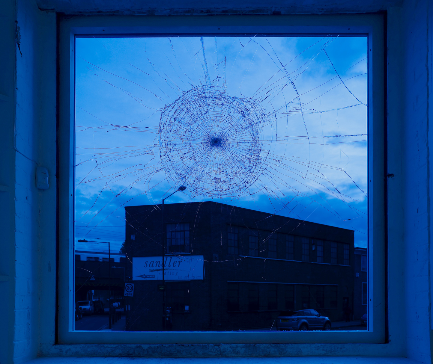 Untitled Broken Window 2012 Coloured safety glass  171 x 175 cm / 67.3 x 69.9 in