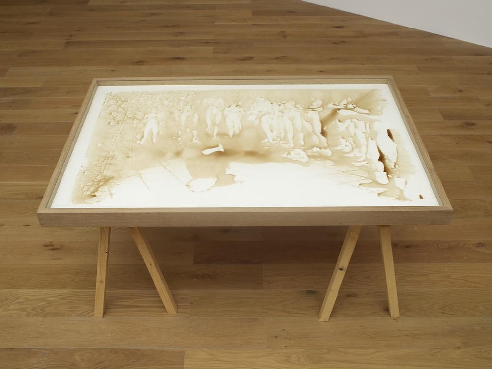 Honeyprint (Bierbrunnen)   2011   Silk-screen prints with forest honey on paper
