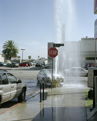 Fountain - Loma Dr / W 6th St   2002   Fire hydrant, 2 police officers, late model car, sidewalk