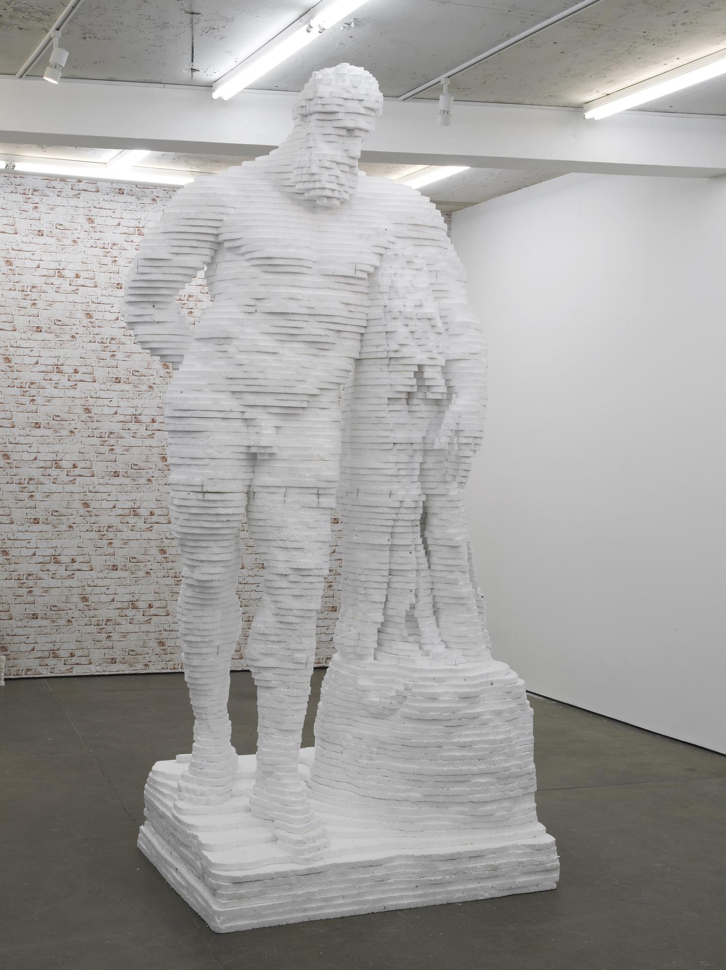 Hercules  2014  Polystyrene  315 x 130 x 106 cm / 124 x 51.1 x 41.7 in