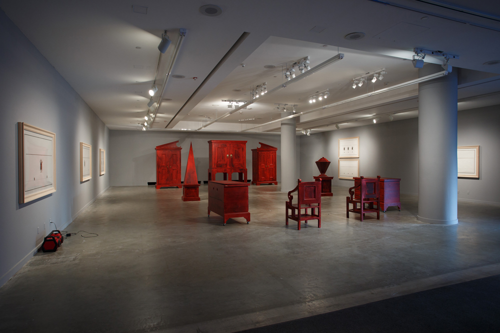 Pablo Bronstein: Enlightenment Discourse on the Origins of Architecture  Installation View  REDCAT, Los Angeles, US  2014