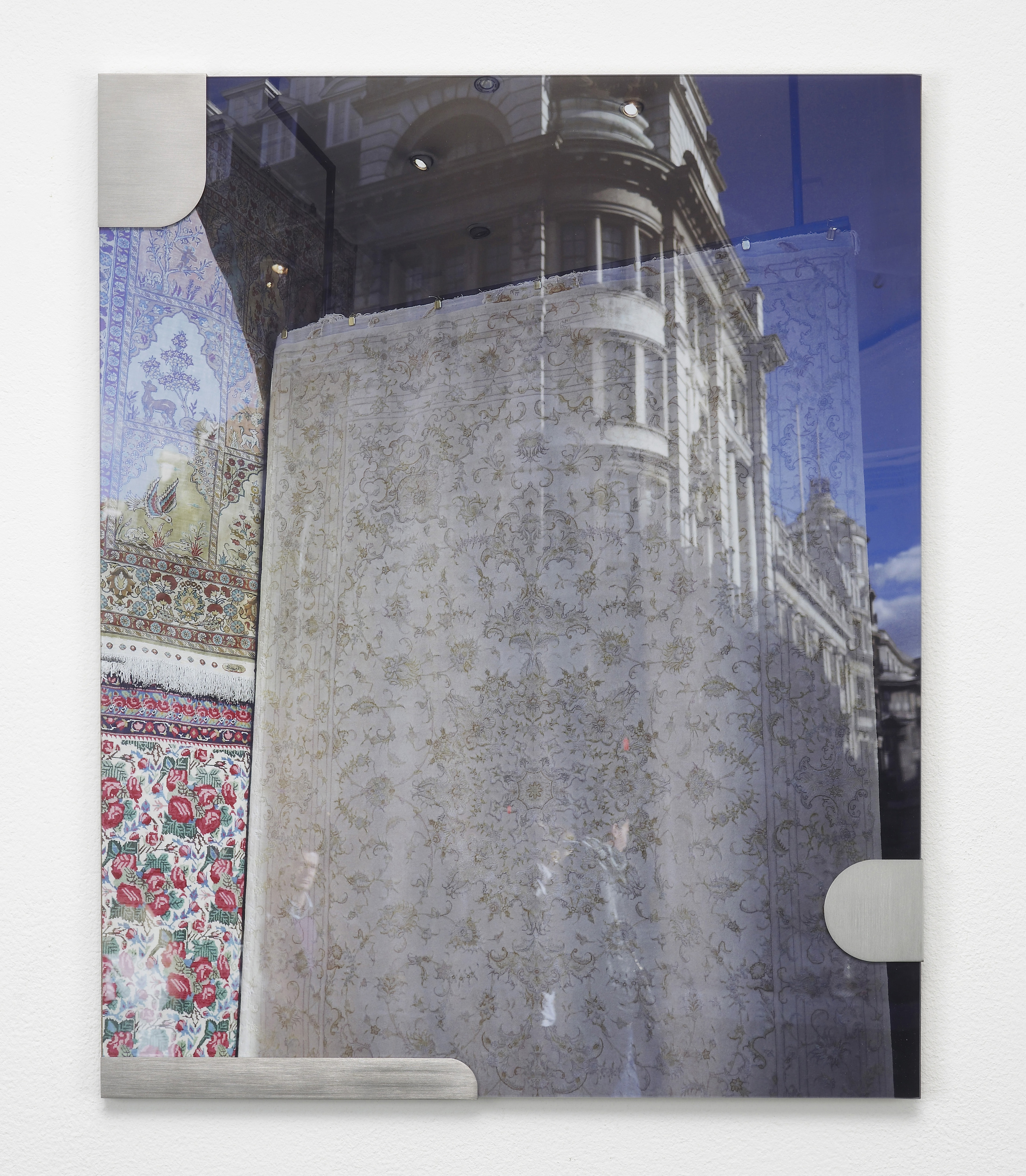 Nicole Wermers Carpets and Glass #5 2012 C-print, stainless steel clips, clip frame 50 x 40 cm