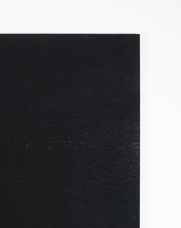 Michael Wilkinson Black Wall 7 (Detail) 2013 Black lego, wooden frame 185 x 185 x 3 cm / 72.8 x 72.8 x 1.1 in