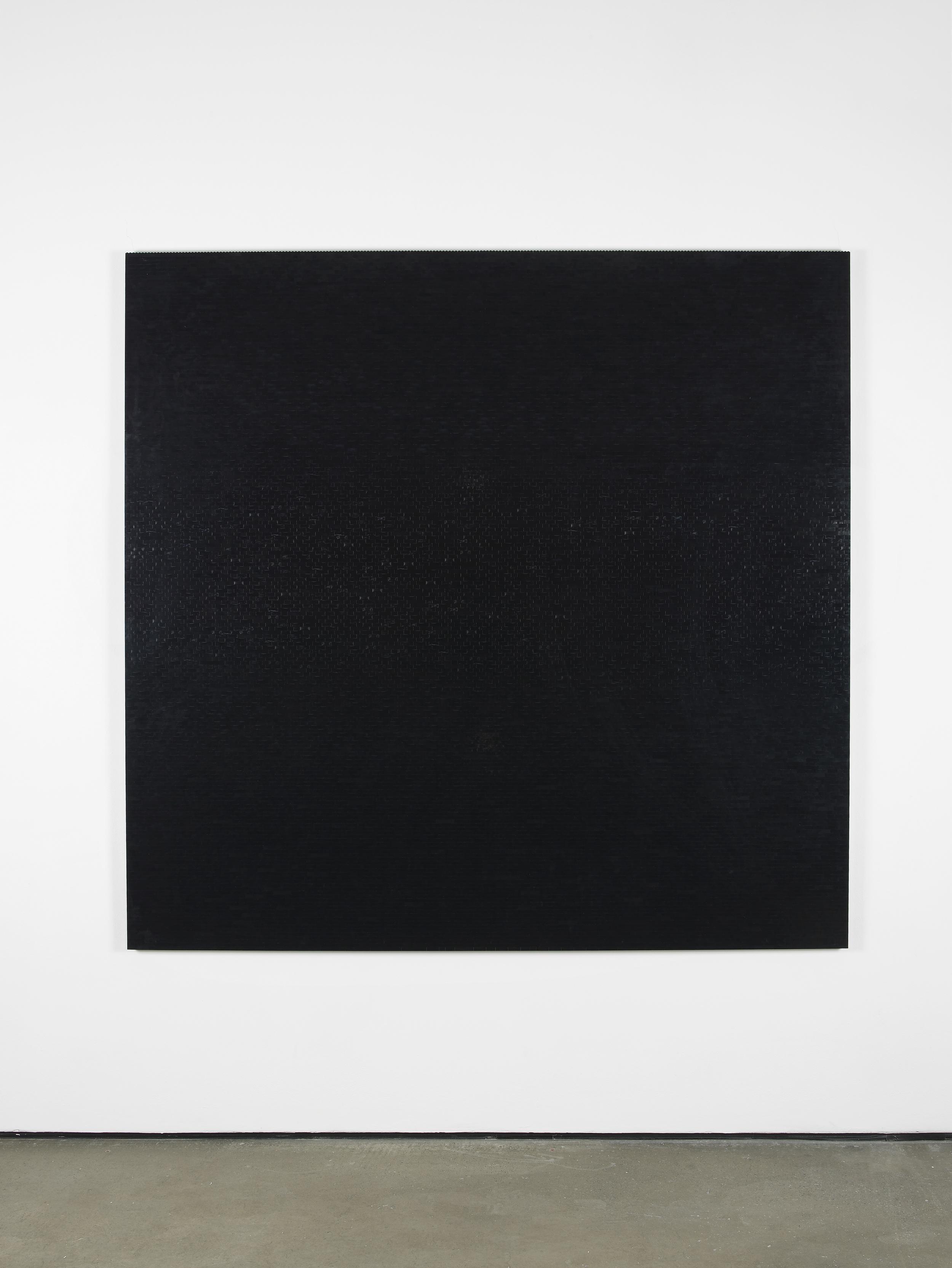 Michael Wilkinson Black Wall 7 2013 Black lego, wooden frame 185 x 185 x 3 cm / 72.8 x 72.8 x 1.1 in