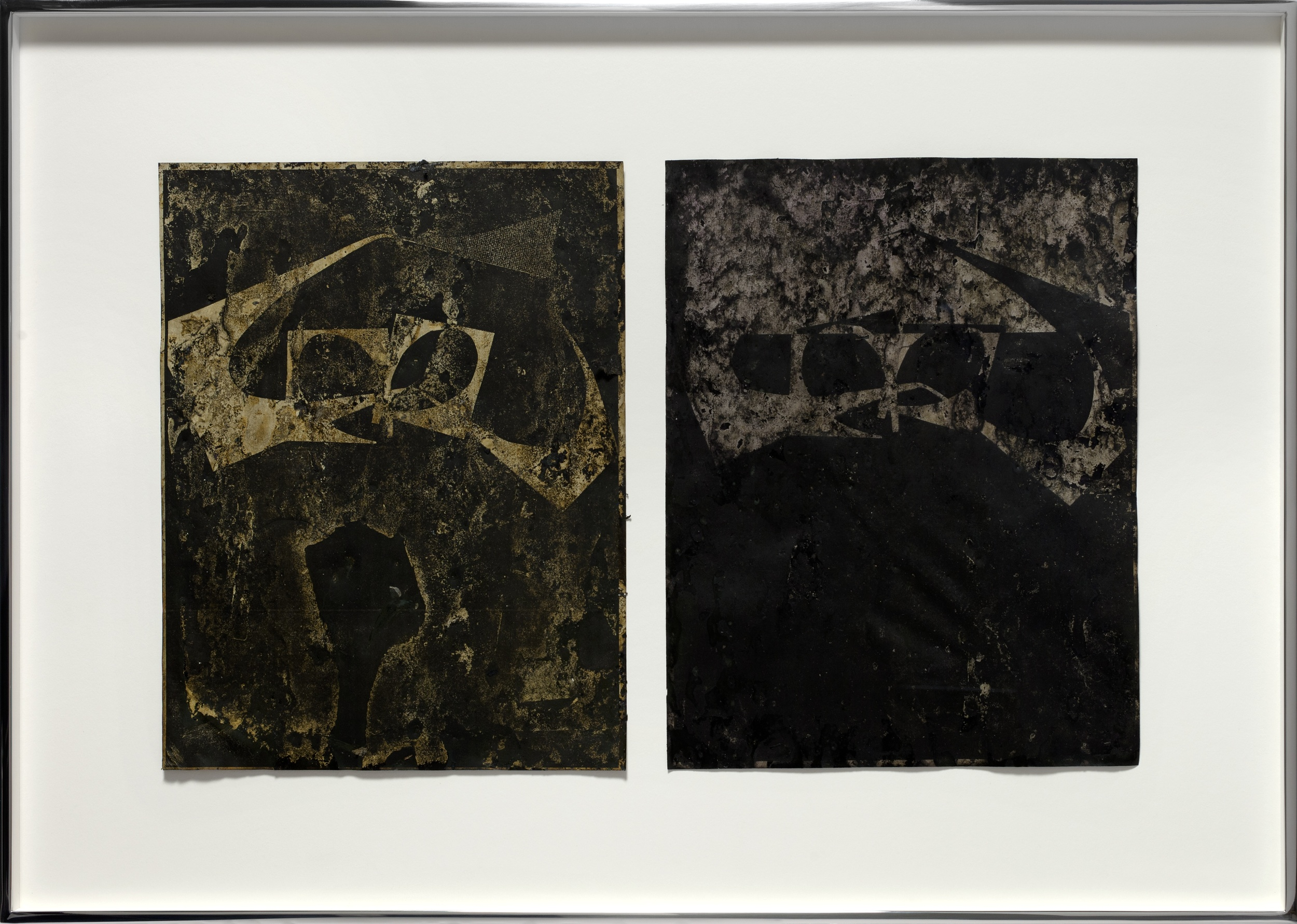 Untitled 2009 - 2014 Inks and mixed media on two photocopies 40.6 x 58.4 cm / 16 x 23 in framed