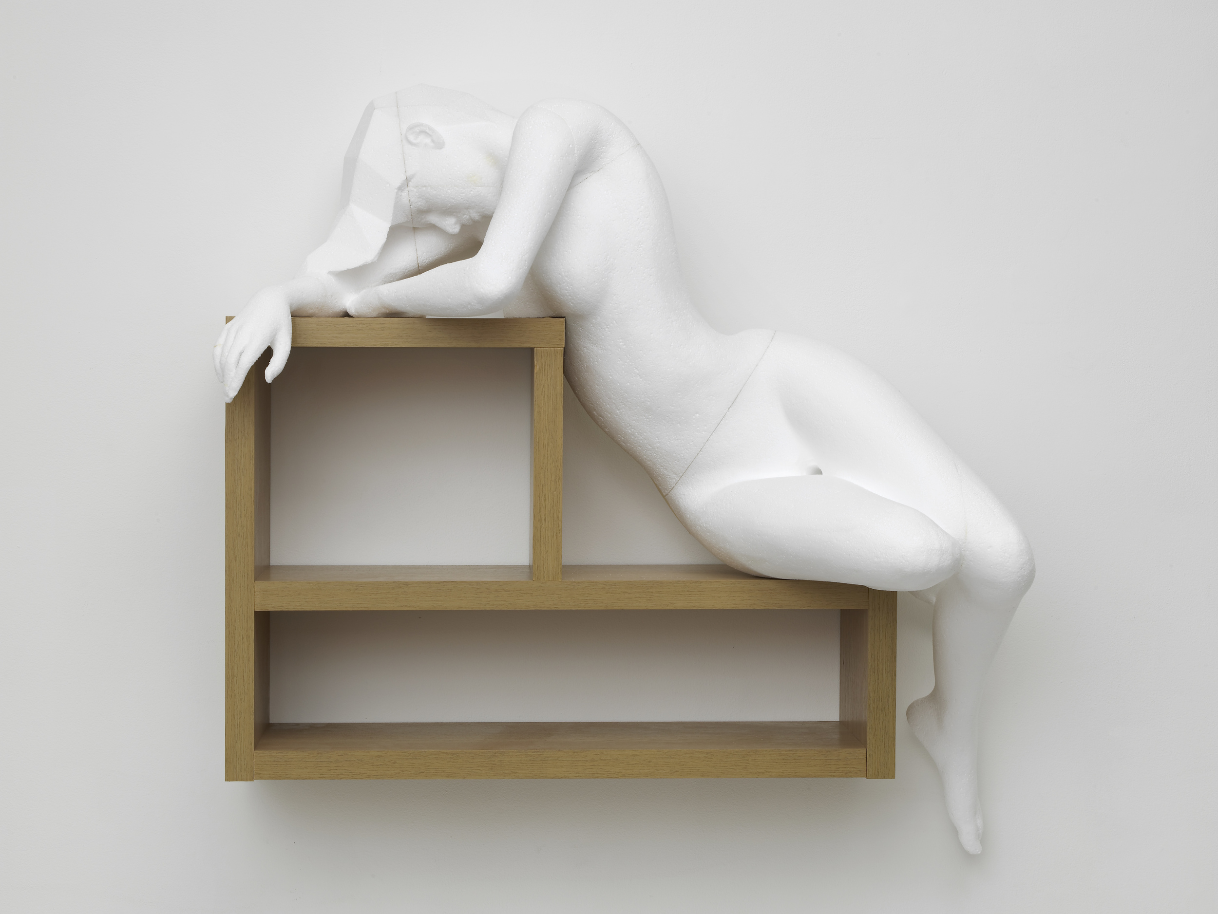Standardised Form No.4 (nude) 2013 3D model in polystyrene on artificial wood support 107 x 104.4 x 54 cm / 42.1 x 41.1 x 21.2 in