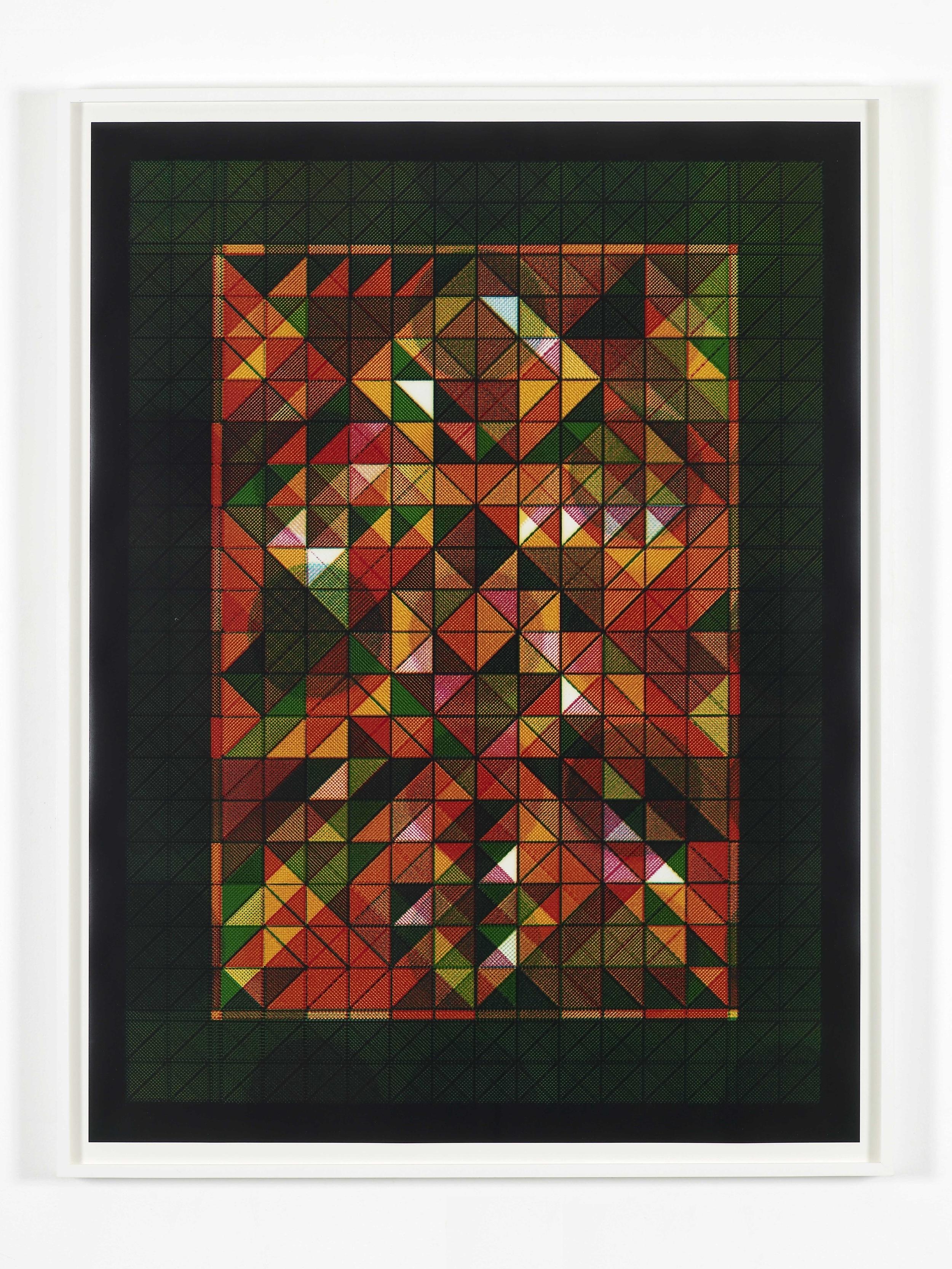Happy New Year (Moire) 2010 Unique C-Print 101.5 x 76 cm / 40 x 30 in