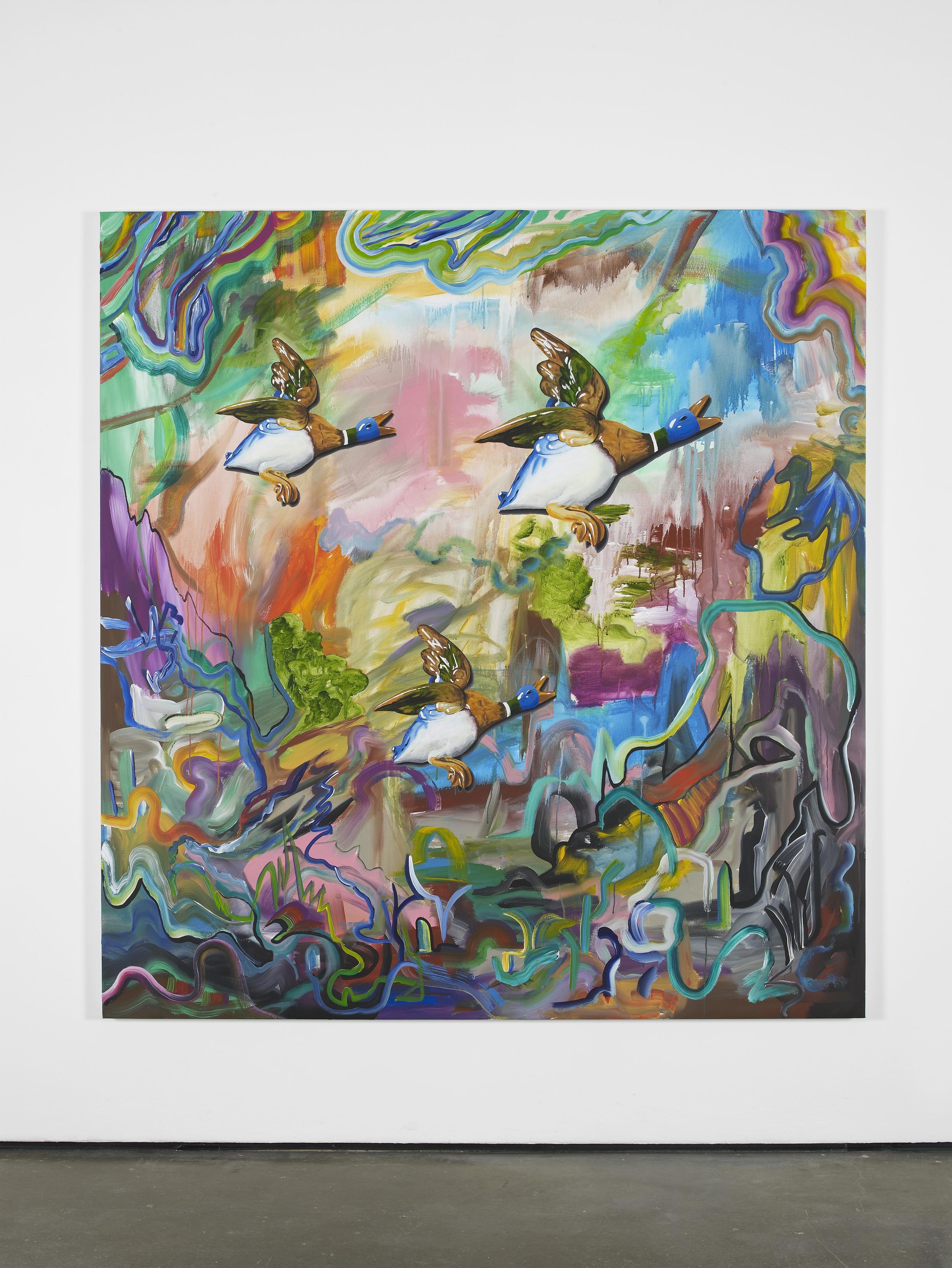 Candor dat viribus alas 2014 Acrylic on canvas 185 x 175 cm / 72.8 x 68.8 in