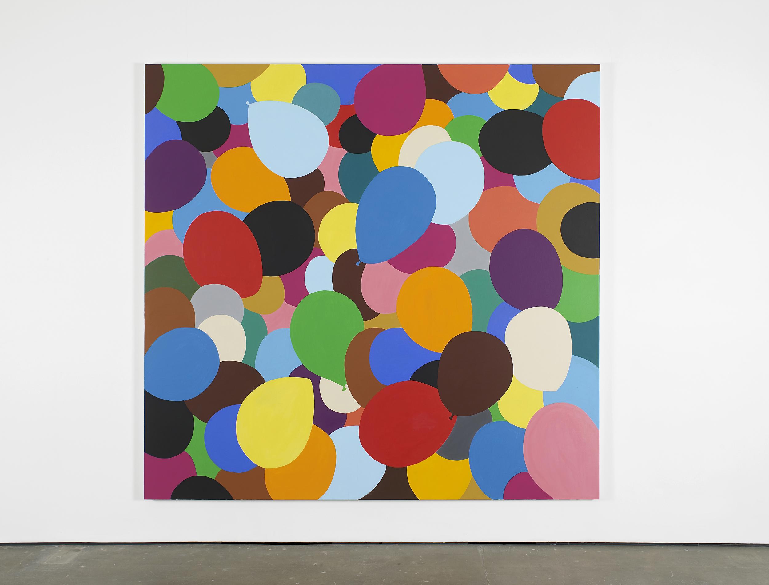 Neunundneunzig Luftballons 2014 Acrylic on canvas 225 x 235 cm / 88.5 x 92.5 in