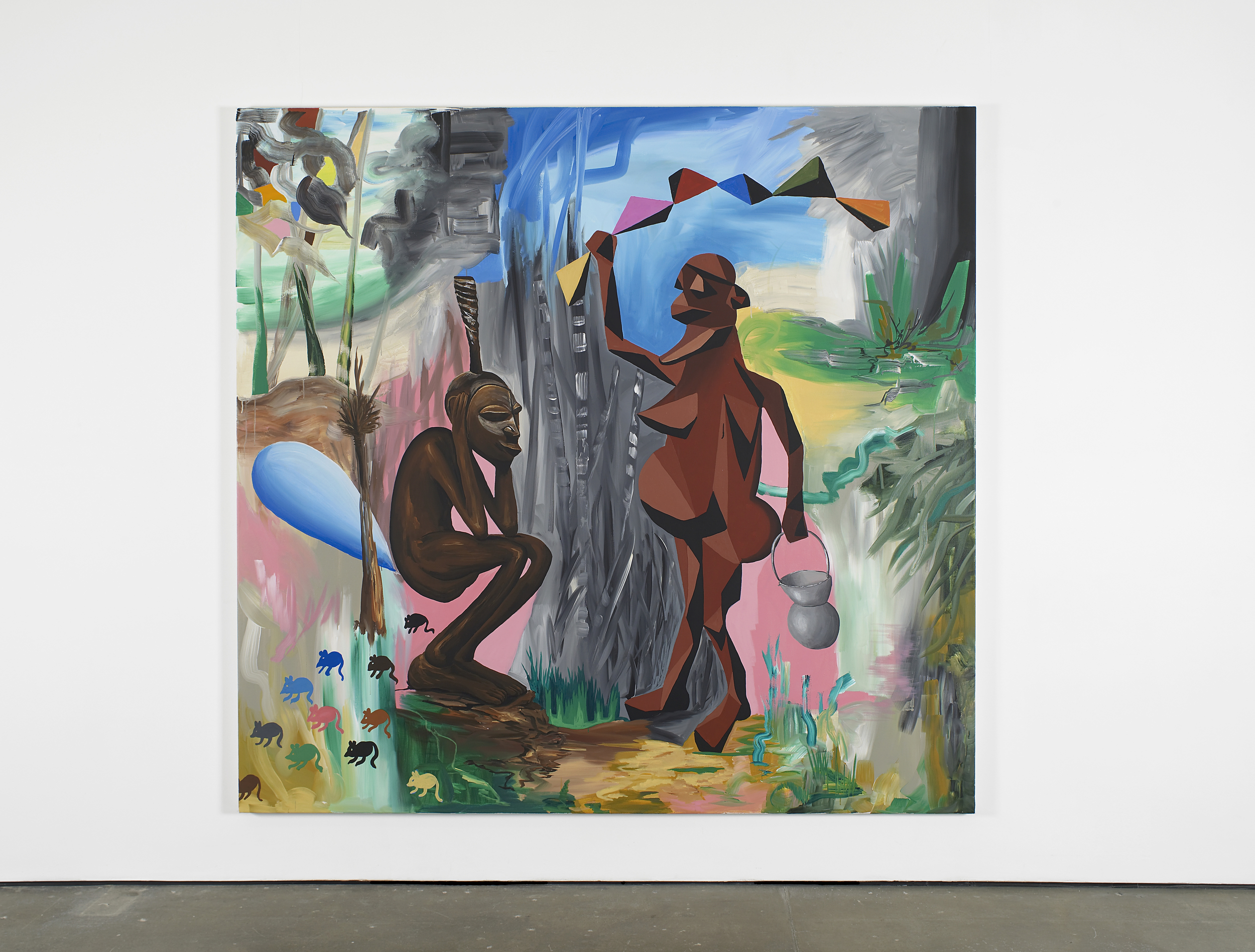 Papa don't Preach 2014 Acrylic on canvas 225 x 235 cm / 88.5 x 92.5 in