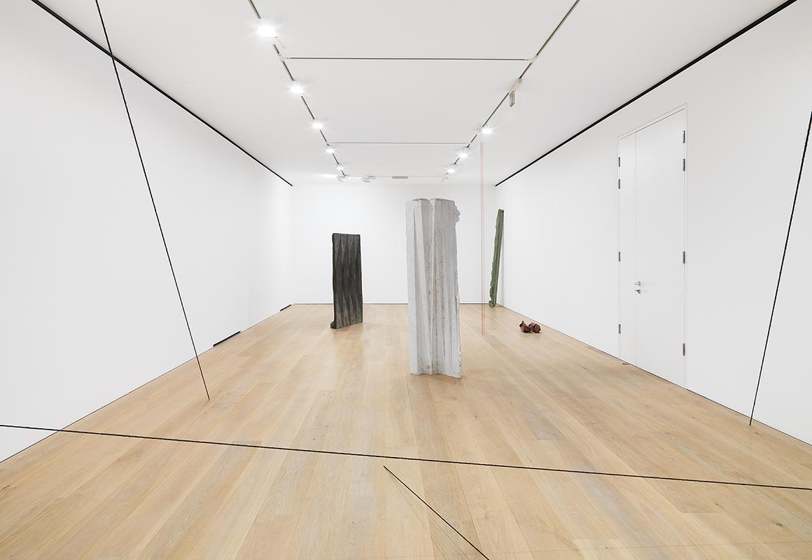 Sharing Space, with Fred Sandback  Installation View  David Zwirner, London, UK  2014