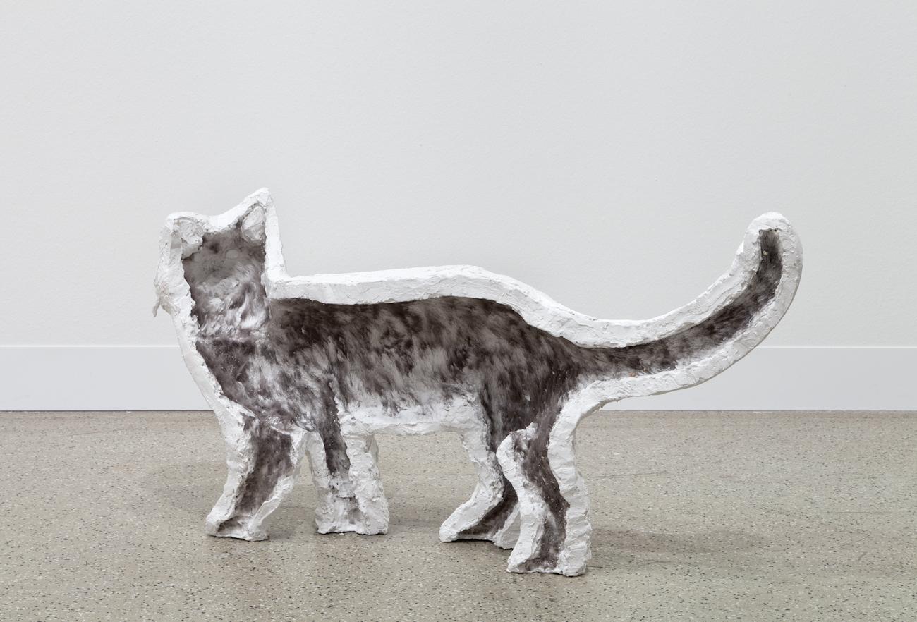 Cat (phantombox) 2014 Plaster cast 42 x 81 x 20 cm / 16.5 x 31.8 x 7.8 in