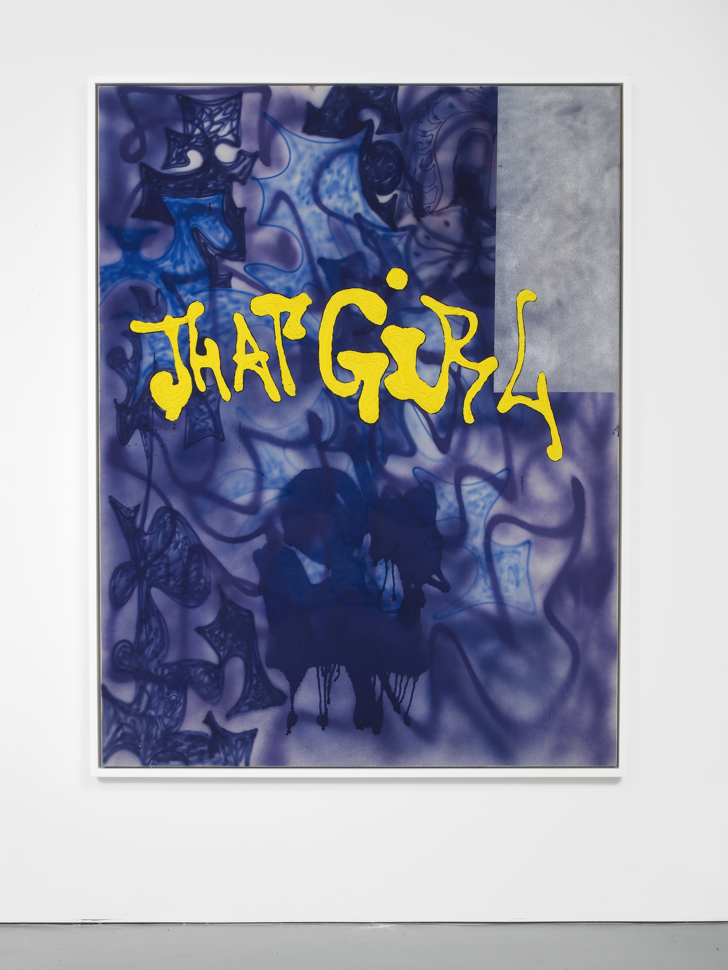 That Girl 2014 Spray paint, acrylics and Plastisol (PVC-paint) on glue primed linen canvas 170 x 130 cm / 66.9 x 51.1 in