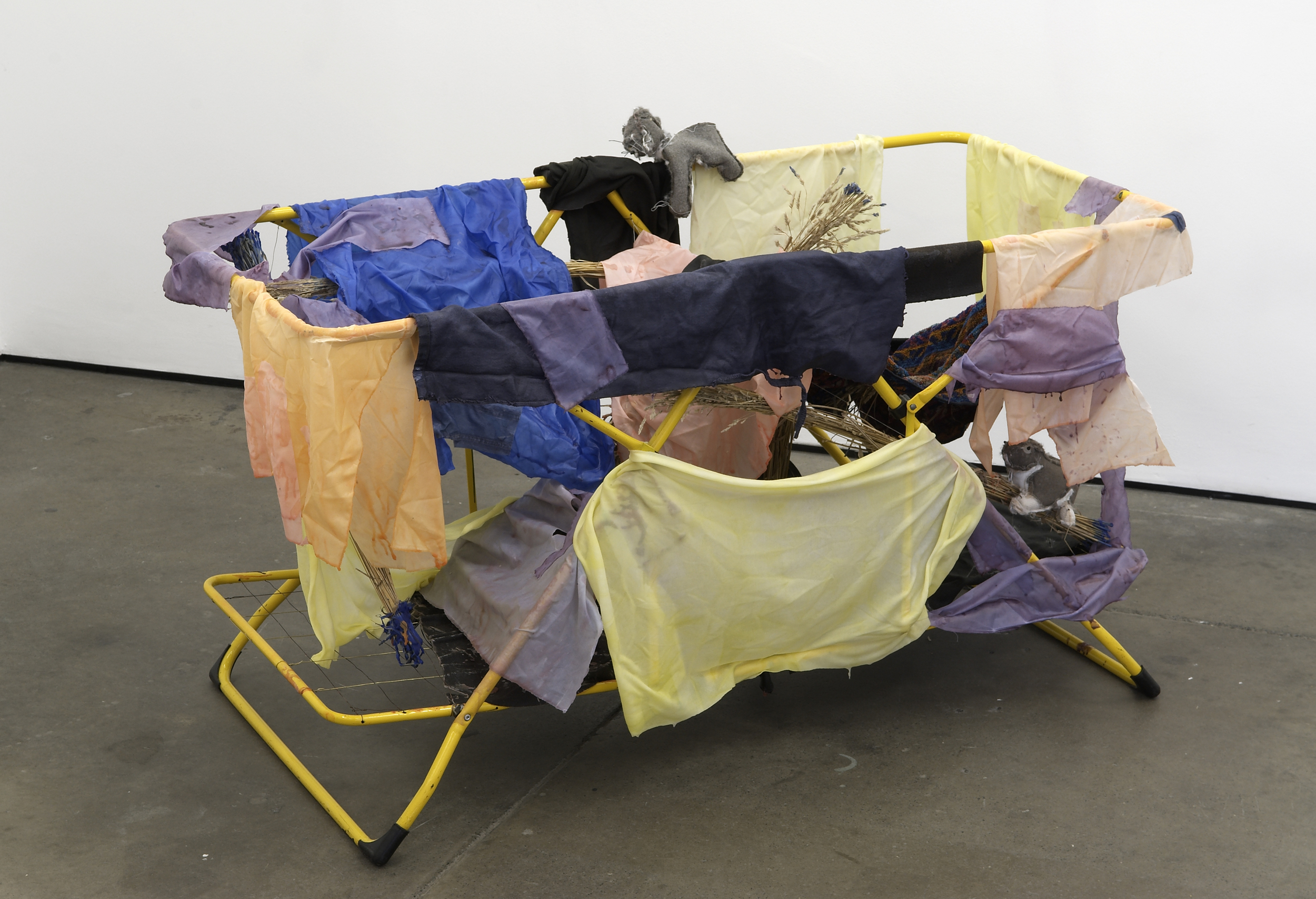 Not Beyond Repair 2008 fabric, pigmented wax, towel, soft toys, wire, straw, plastic, metal paint 81 x 132 x 80cm