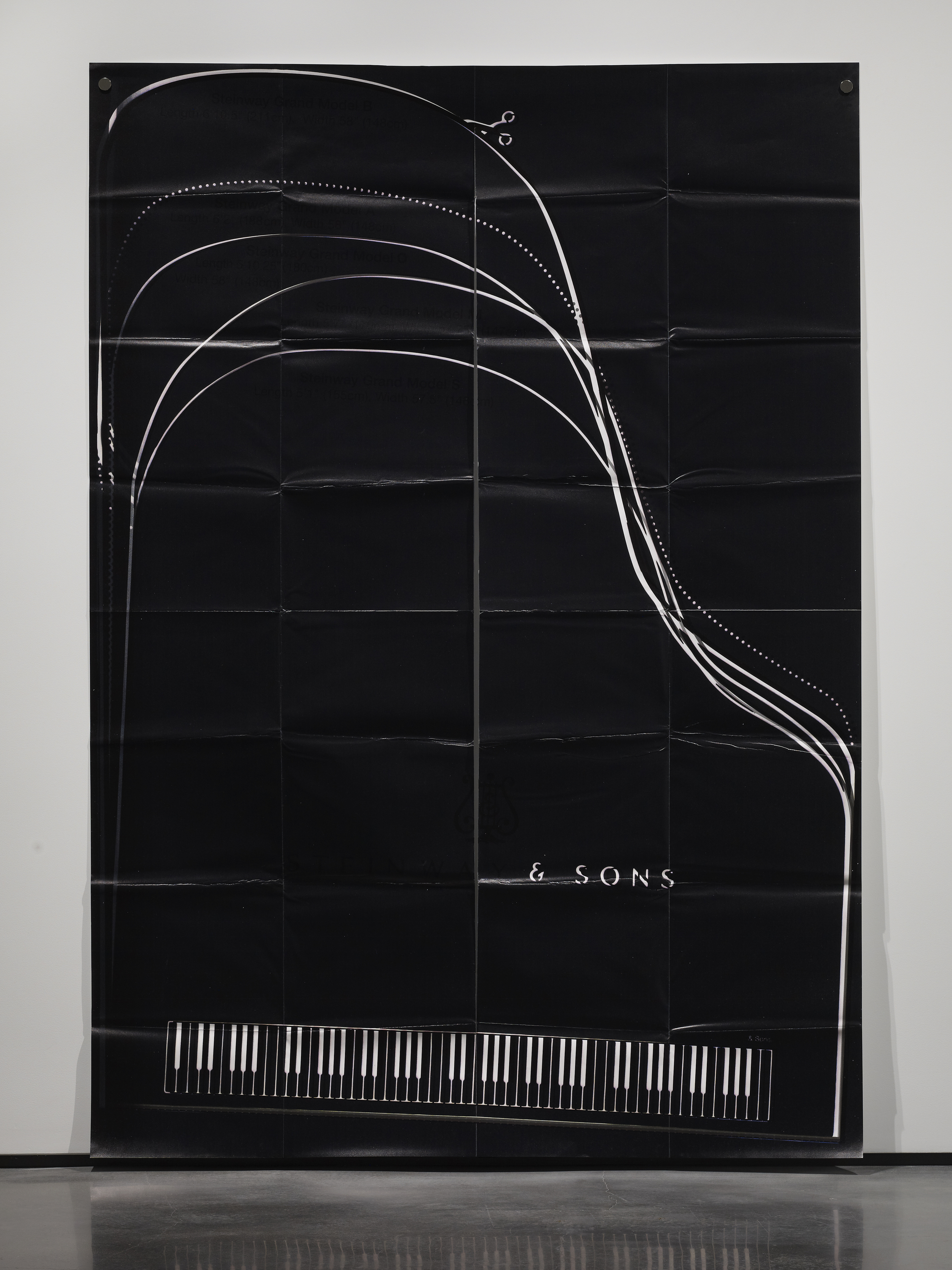 Lusty Ghost (11) 2014 Ink and UV print on paper mounted on aluminum 219.7 x 154.9 cm / 86.5 x 61 in