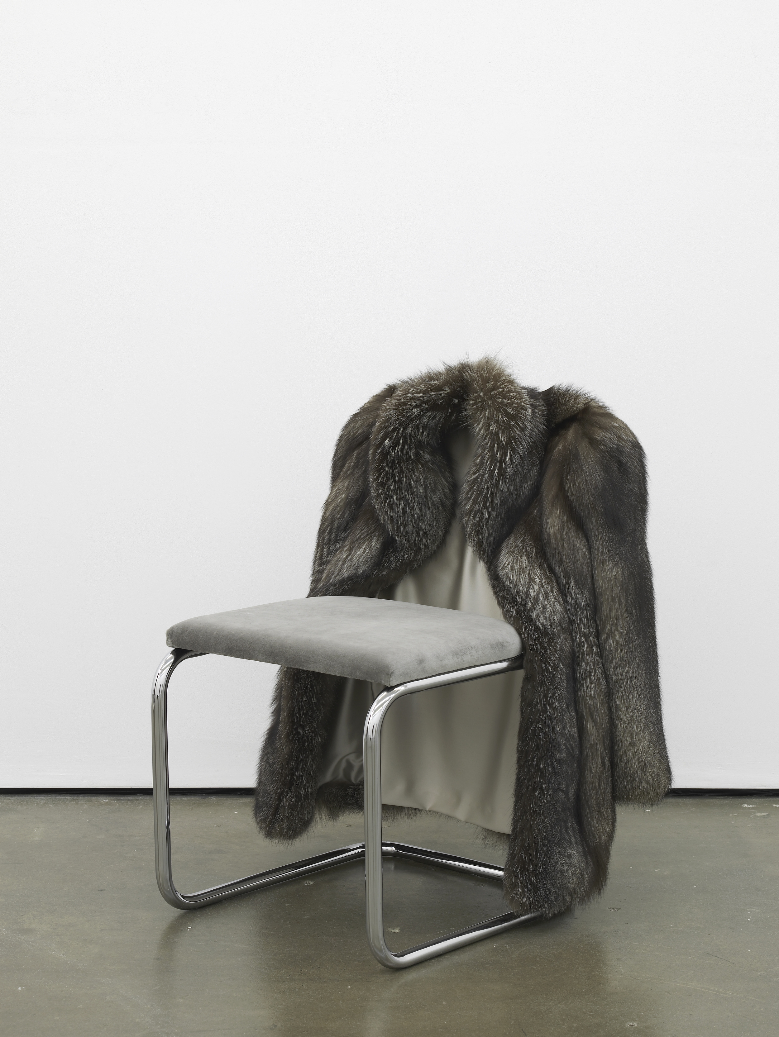 Untitled Chair - FXI-0    2015 Vintage fur, steel tubing, upholstery, silk and velvet 85 x 65 x 60 cm / 33.4 x 25.5 x 23.6 in