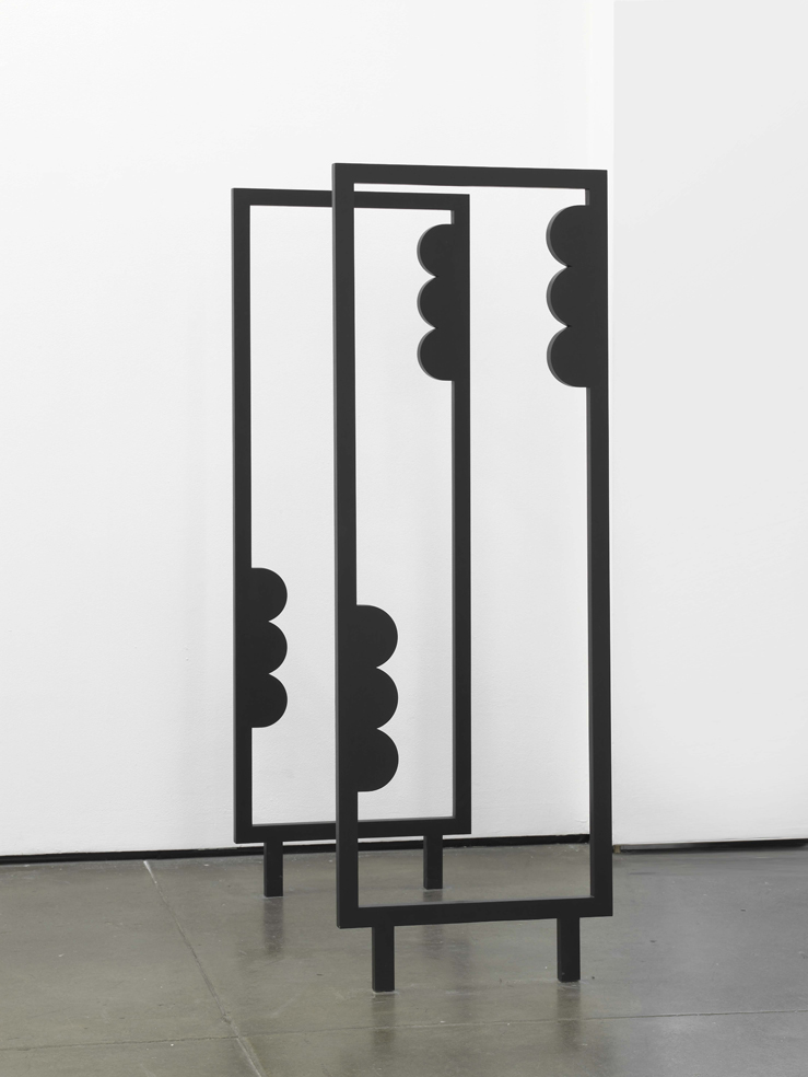 Nicole Wermers Untitled 2004 Paint & wood 2 parts, each 150 x 52 x 2.5 cm / 59 x 20.4 x 1 in