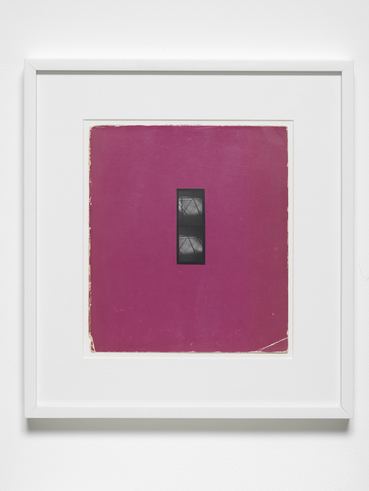 Josh Brand Ground and Matisse Book  2011 Silver gelatin print mounted on coloured paper 37 x  34 cm / 14.5 x 13.4 in framed