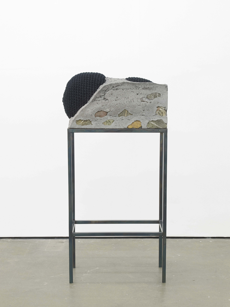 Alexandra Bircken Herstory 2015 Concrete, metal, cotton yarn and cotton felt stuffing 121.6 x 114.8 x 64 cm / 47.8 x 34.6 x 34.6 in