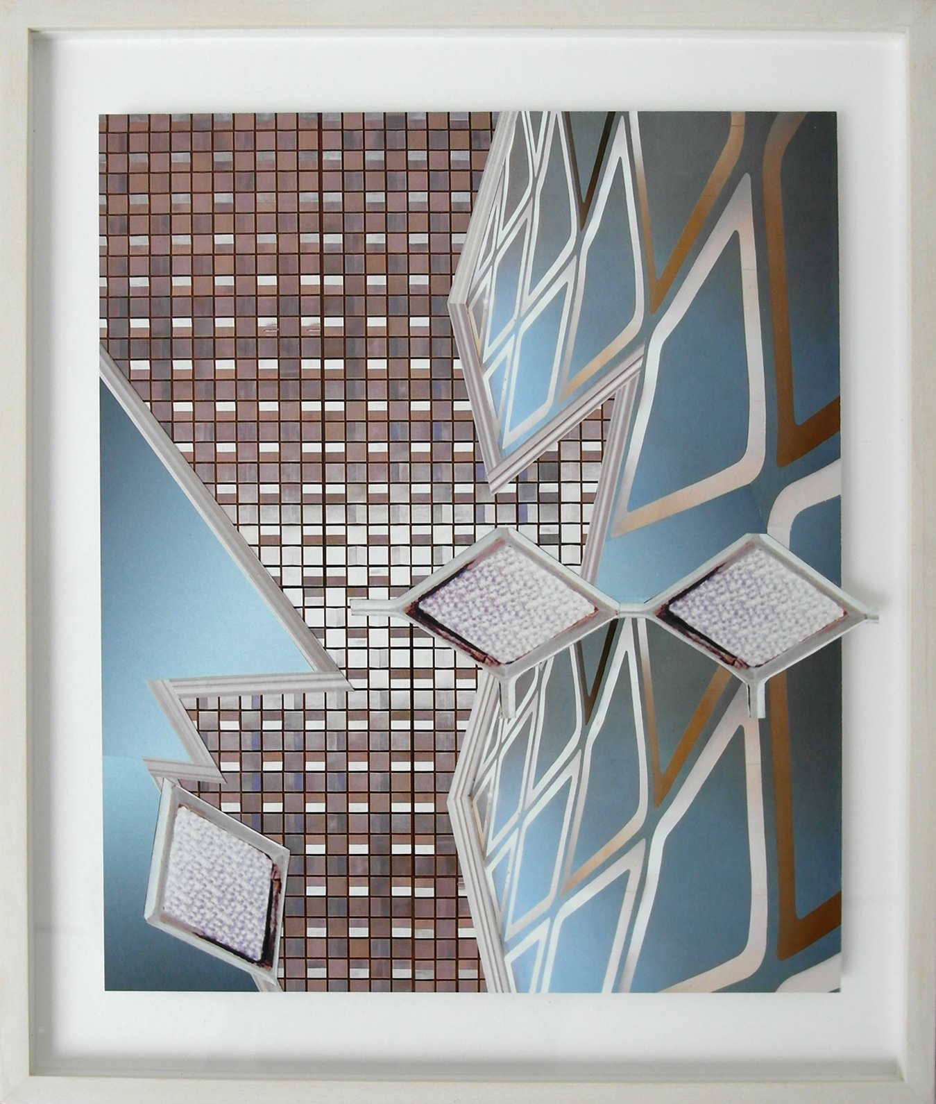 Untitled (Ponti ceiling) 2012 Collaged magazines, framed 44.7 x 37 cm / 17.5 x 14.5 in framed