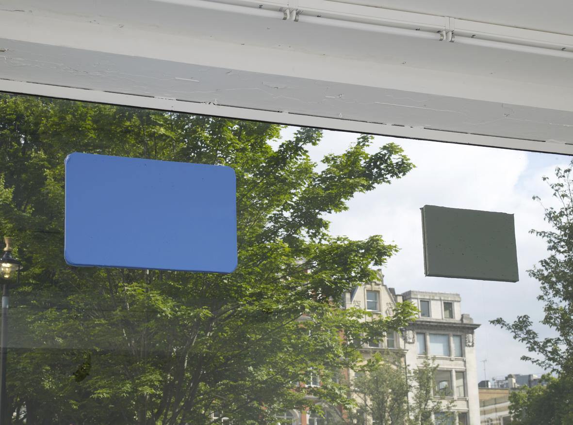 Rodrigo Andrade Untitled 2015 Foam board, oil paint, glass 201.5 x 44.5 x 3.4 cm / 79.3 x 17.5 x 1.3 in