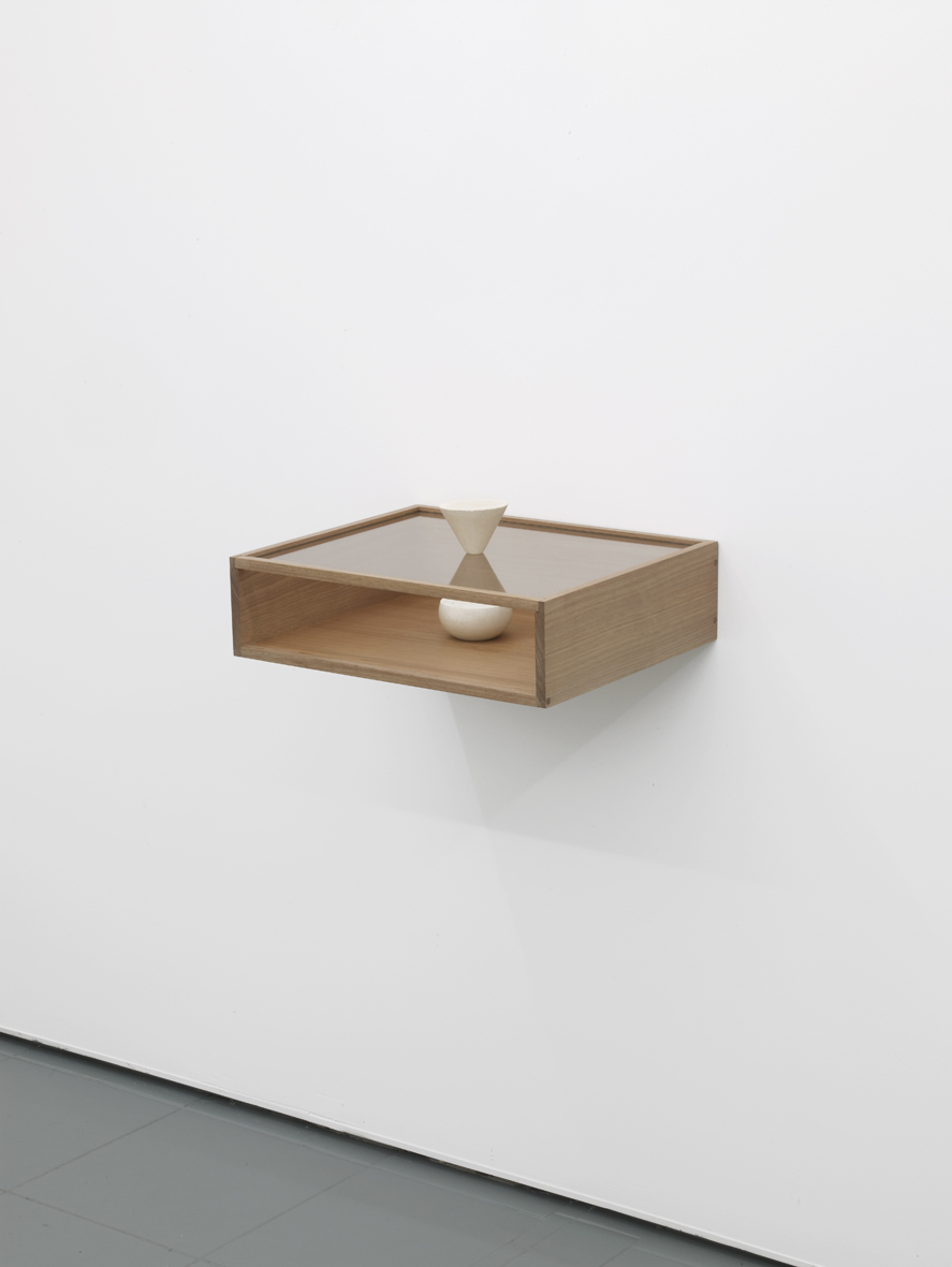 Felipe Cohen Broken time # 2 2014 Wood, glass and sandstone 12 x 45 x 37 cm / 4.7 x 17.7 x 14.5 in