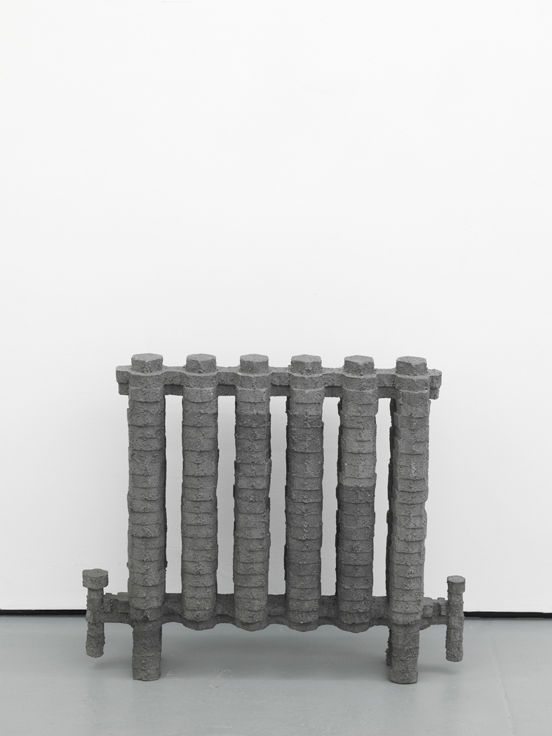 Deposition Model No. 9 - Industrial Radiator 2015 Pigmented plaster and scrim 65 x 78 x 13.5 cm / 25.5 x 30.7 x 5.3 in